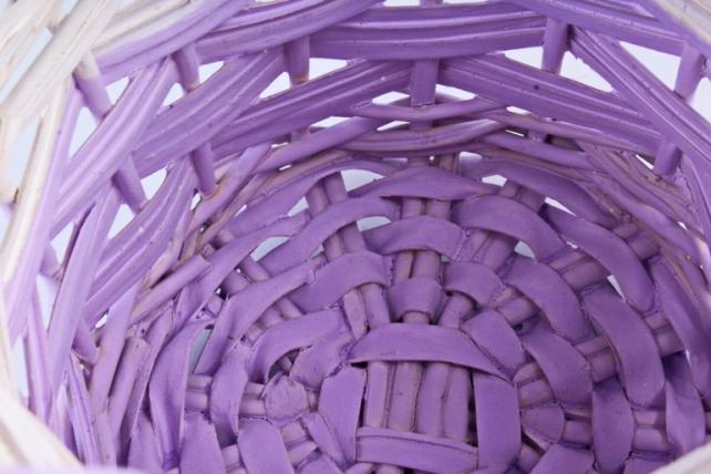 Набор корзин плетеных (ива) из 2шт - Круг светло-сиреневый 5855