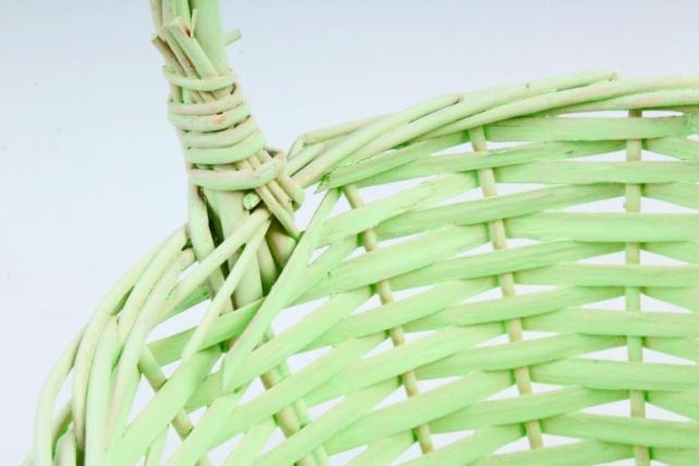 Набор корзин плетеных (ива) из 3шт - Круг  бледно-зеленый 8764