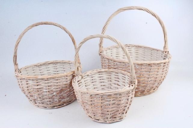 Набор корзин плетеных (ива) из 3шт - Круг   4964