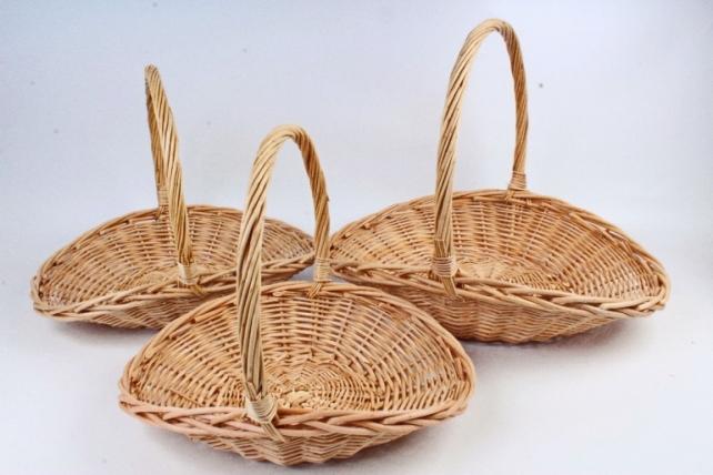 Набор корзин плетеных (ива) из 3шт - Овал   4095