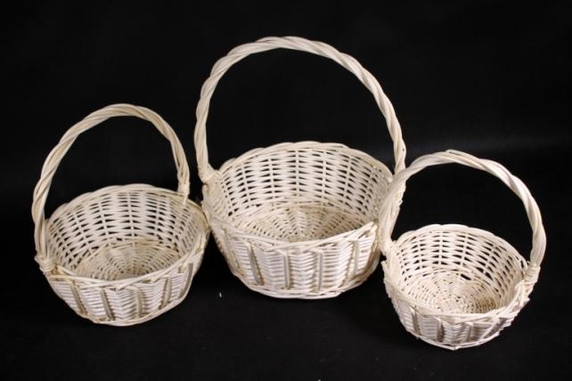 Набор корзин плетеных (ива) из 3шт -    8813