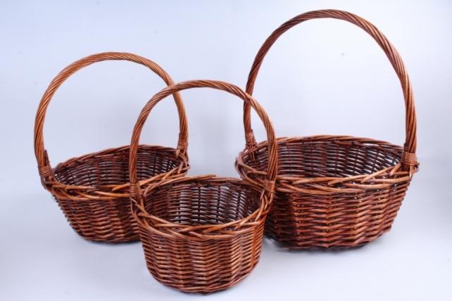 Набор корзин плетеных (ива) из 3шт -   8868