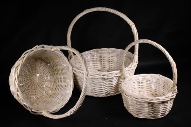 Набор корзин плетеных (ива) из 3шт -   8745