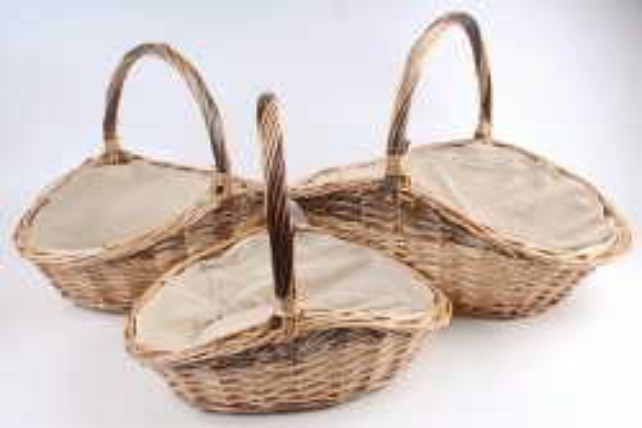 Набор корзин плетеных (ива) из 3шт -Овал  1122 (М)