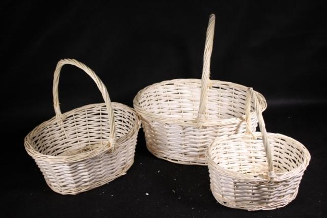 Набор корзин плетеных (ива) из 3шт -   8882