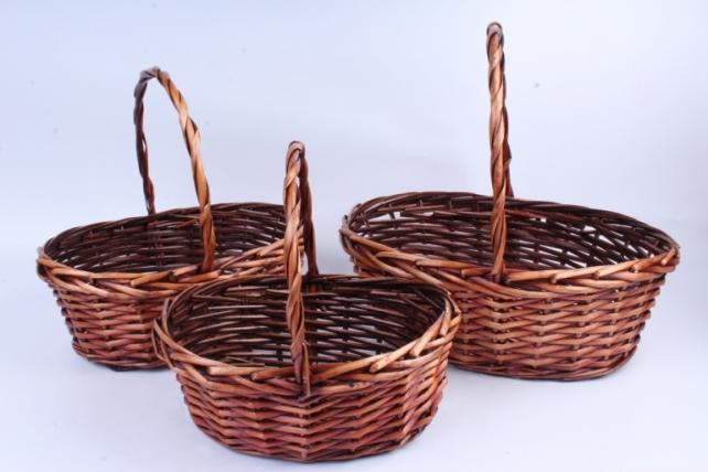 Набор корзин плетеных (ива) из 3шт -    8769