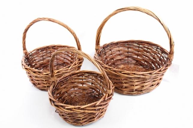 Наборкорзинплетеных(ива),коричневый,3шт.3135