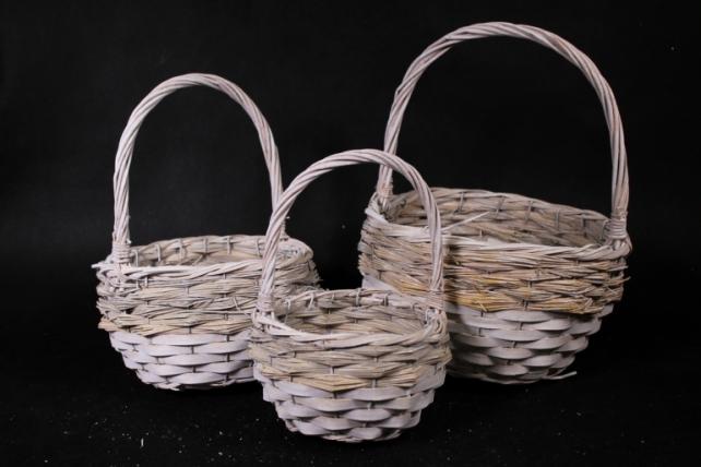 Набор корзин плетеных из 3шт -   (ива)   0485