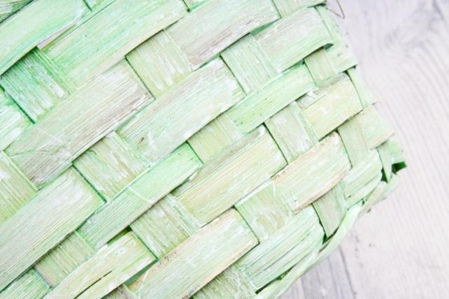 Набор корзин плетеных из 3шт (бамбук) - Круг  нежно зеленый 0909