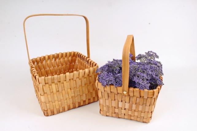 Набор корзин плетеных из 2шт (секвойя) -   2 шт., розовый 9265 М