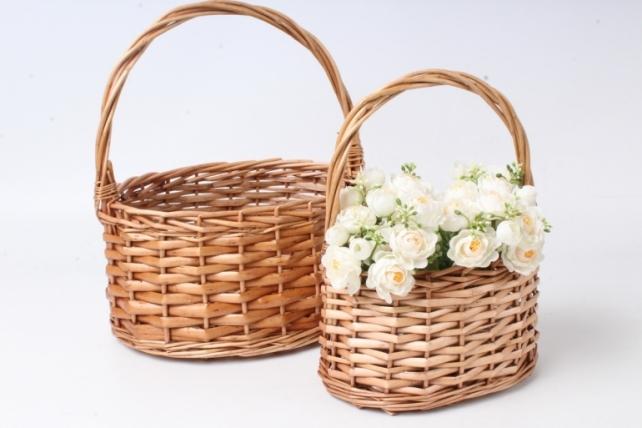 Набор корзин плетеных 2шт (ива) - Круг коричневый 3724