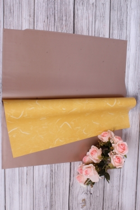 Набор матовой плёнки мрамор, 10 листов 60*60см, цв.жёлтый 5888Н