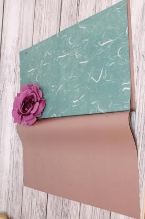 Набор матовой плёнки мрамор, 10 листов 60*60см, цв.голубой 5840Н