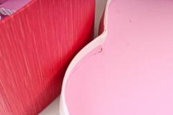 Набор одиночных коробок ( 6шт) - Сердце красно/белый бант  К834