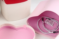Набор одиночных коробок ( 6шт) - Сердце текстурное  К830