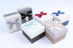 Набор одиночных коробок (6 шт в уп) - Квадрат ассорти