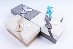 Набор одиночных коробок (4 шт в уп) - Прямоугольник бант бабочка Р112