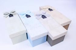 Набор одиночных коробок (4 шт в уп) - Прямоугольник ткань  R43