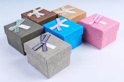 Набор одиночных коробок из 6 шт - Квадрат Лён