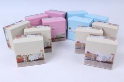 Набор одиночных коробок из 12шт - Квадрат Интерьер 9*9*5,5см  S111-SY256