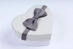 Набор одиночных коробок из 12шт - Сердца цветной крафт