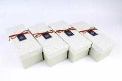 Набор одиночных коробок (из 4шт) -  Прямоугольник оливковый   К734
