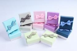 Набор одиночных коробок 12шт - Квадрат Цветной крафт