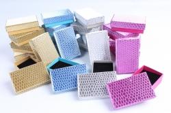 Набор одиночных коробок ювелирных (24шт в уп)-  Глиттер под кожу  10021-2-N  (М)