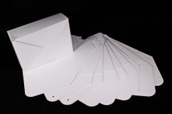Набор одиночных коробок-трансформеров (10 шт в уп) - Конверт белый