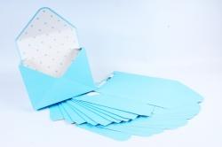 Набор одиночных коробок-трансформеров (10 шт в уп) - Конверт голубой