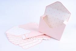Набор одиночных коробок-трансформеров (10 шт в уп) - Конверт персиковый