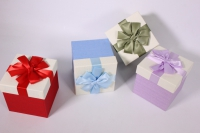 Набор одиночных подарочных коробок из 4шт - Куб - Ассорти 11*11*11см