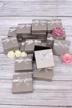 Набор одиночных подарочных коробок из 24шт - Квадрат Серебро 8.5*8.5*2,5см 10021-13