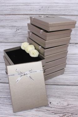 Набор одиночных подарочных коробок из 12шт - Прямоугольник Серебро 12*16*3см 10021-15