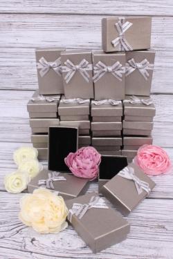 Набор одиночных подарочных коробок из 24шт - Прямоугольник Серебро 5*8*2,5см 10021-12