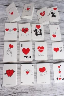 "Набор открыток ""For you"" 10,5*7см, 96шт 3516Н"
