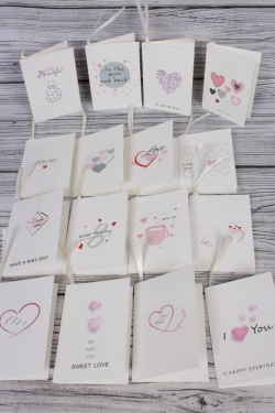 "Набор открыток ""Sweet love"" 7*10,5см, 96шт  3486Н"