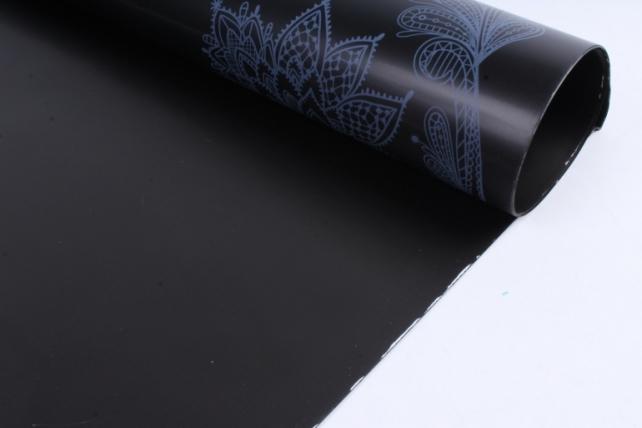 """Набор пленки матовой  """"Цветы"""" 10листов, 60см*60см (черный)"""