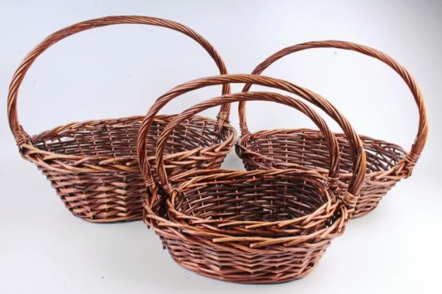 Набор плетеных корзин (ива) из 4шт - Овал большой    7599  М