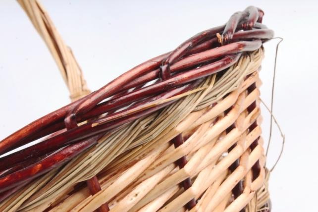 Набор плетеных корзин (ива) из 3шт -   коричневый / бежевый  7377 (М)