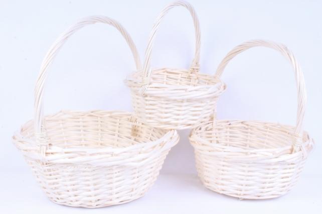 Набор плетеных корзин из 3шт-(ива) Круг  D=34, H=13;40см КС-049