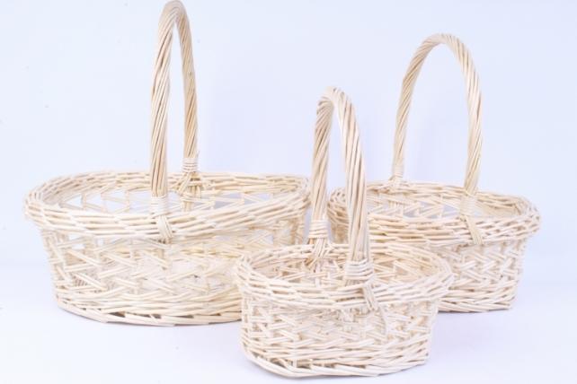 Набор плетеных корзин из 3шт-(ива) Овал   КС-001