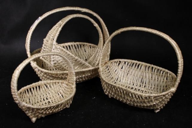 Набор плетеных корзин из 4шт-(ива)  Овал  КС-321/4