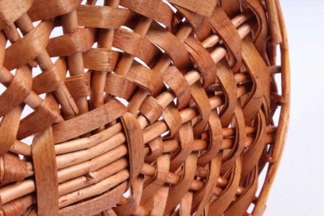 Набор плетеных корзин из 3-х шт- Круглая медовая L:D34 H12 HH36 B 23  КС-395