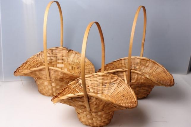 Набор плетеных корзин Шляпа из 3шт. (бамбук) коричневый 5825