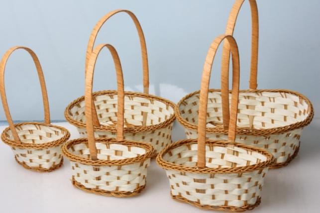 Набор плетеных разноразмерных корзин (5шт) 27х20х12см