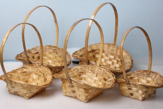 Набор плетеных разноразмерных корзин (5шт) 30х23х11см