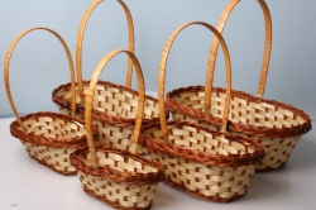 Набор плетеных разноразмерных корзин (5шт) овал 40х23х12см