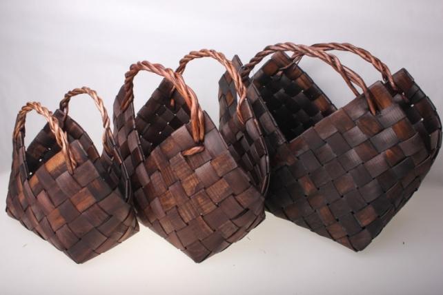 Набор плетеных Сумок из 3 штук