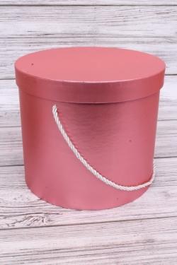 Набор подарочные коробок из 3 шт - Цилиндр металл коралл d=21, h=19см  N283
